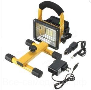 светодиодный переносной прожектор, время яркого света более 10 часов с алиэкспресс