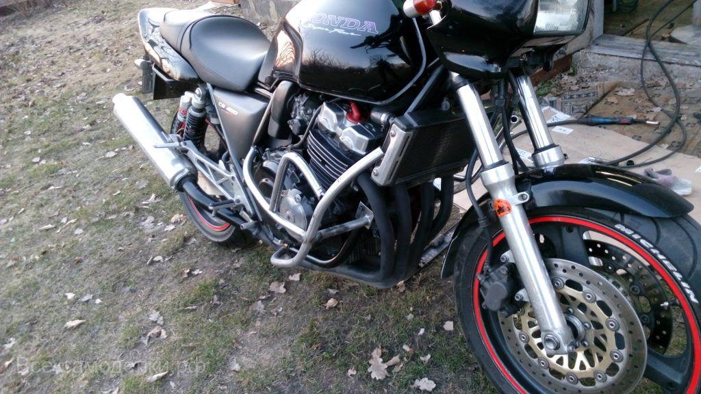 """Самодельные защитные дуги """"клетка"""" для мотоцикла HONDA CB400"""